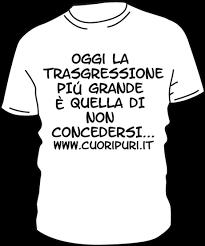 T-shirt colore bianca scritta nera TG UNISEX: M,L