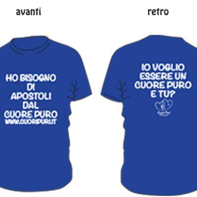 Tshirt colore blu scritta bianca TG UNISEX: XS,S,M,L