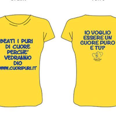 T-shirt colore giallo scritta nera TG UNISEX: XS,S,M,L,XL